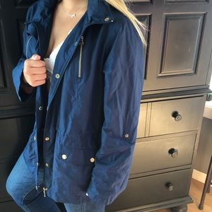 Style & Co Jackets & Coats - Blue with gold buttons trench water proof jacket
